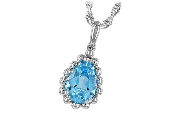 A216-59080: NECKLACE 1.55 CT BLUE TOPAZ