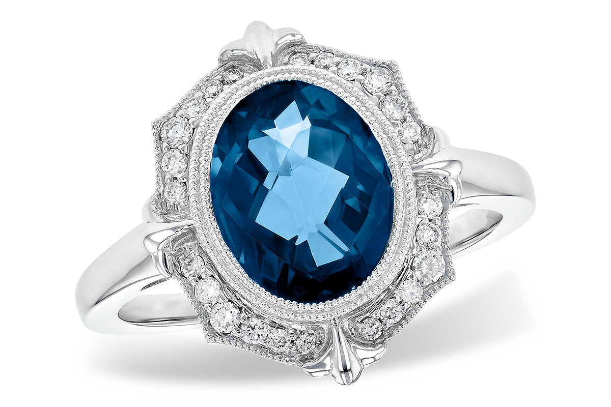 A217-53562: LDS RG 3.00 LONDON BLUE TOPAZ 3.16 TGW