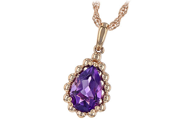 B216-59071: NECKLACE 1.06 CT AMETHYST