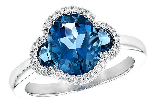 B217-51789: LDS RG 3.04 TW LONDON BLUE TOPAZ 3.20 TGW