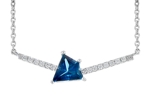 B217-52653: NECK .87 LONDON BLUE TOPAZ .95 TGW