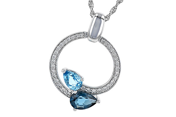 B217-52680: NECK 1.22 BLUE TOPAZ 1.40 TGW