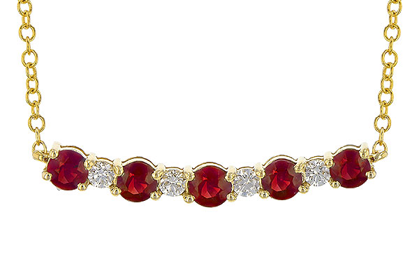 B217-54462: NECK .58 TW RUBY .70 TGW