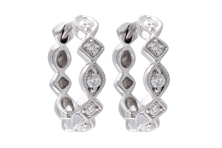 C028-37189: EARRINGS .22 TW