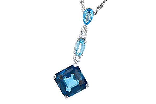 C300-21771: NECK 2.95 TW BLUE TOPAZ 3.00 TGW
