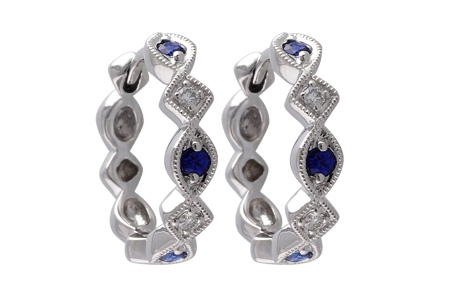 D028-37189: EARRINGS .20 SAPP .25 TGW