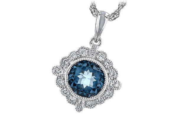 E216-58144: NECK .98 BLUE TOPAZ 1.10 TGW