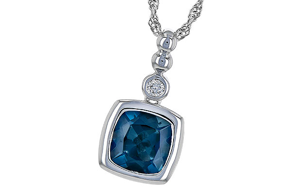E217-49016: NECK 1.50 LONDON BLUE TOPAZ 1.54 TGW