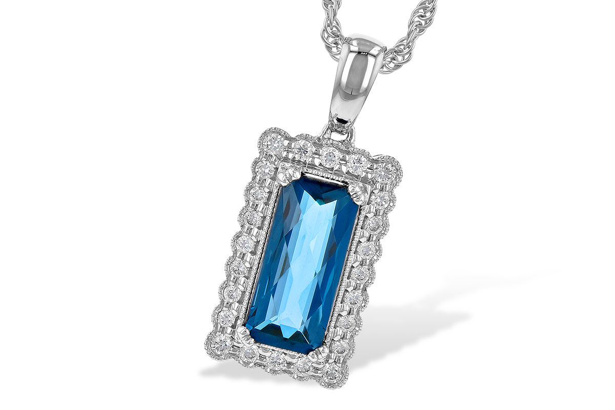 E217-53562: NECK 1.55 LONDON BLUE TOPAZ 1.70 TGW
