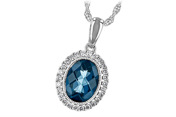 G216-56289: NECK 1.28 LONDON BLUE TOPAZ 1.41 TGW