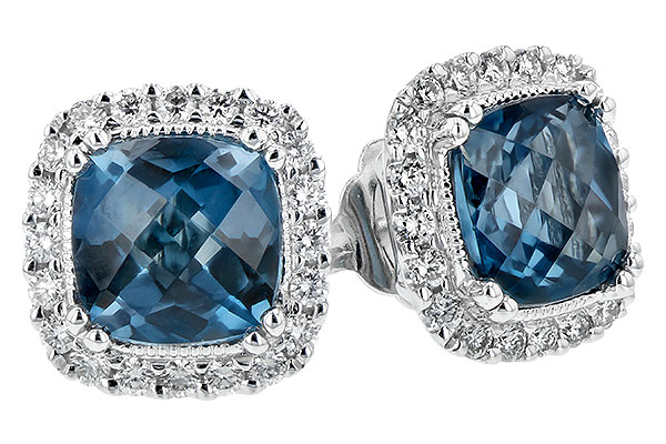 G216-56298: EARR 2.14 LONDON BLUE TOPAZ 2.40 TGW