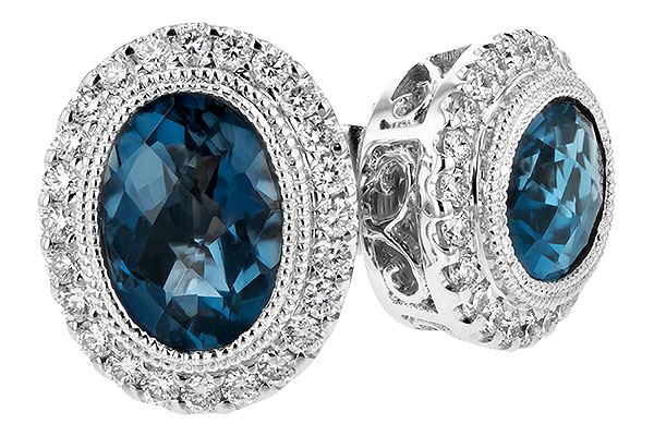 H216-56289: EARR 1.76 LONDON BLUE TOPAZ 2.01 TGW