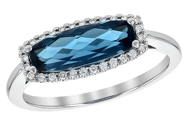 H217-50898: LDS RG 1.79 LONDON BLUE TOPAZ 1.90 TGW