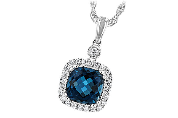 K216-56280: NECK 1.63 LONDON BLUE TOPAZ 1.80 TGW