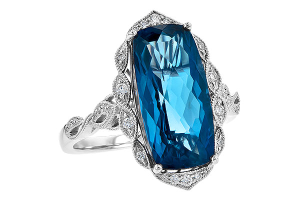 K217-47189: LDS RG 6.75 LONDON BLUE TOPAZ 6.90 TGW