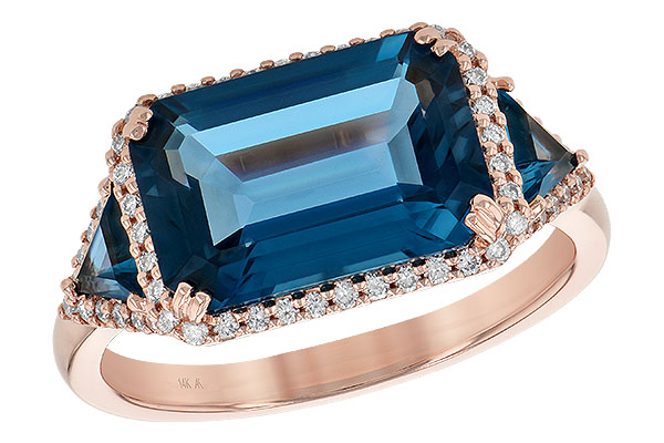 L217-48134: LDS RG 4.60 TW LONDON BLUE TOPAZ 4.82 TGW